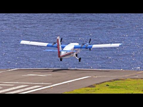 World's shortest runway - Twin Otter STOL at Saba