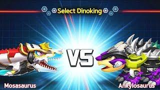 DINOKING #6 - Dino Battle: Mosasaurus Vs Ankylosaurus | Eftsei Gaming