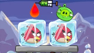 Unfreeze Angry Birds - RESCUE THE FROZEN BIRDS WITH RED COLOR WATER!