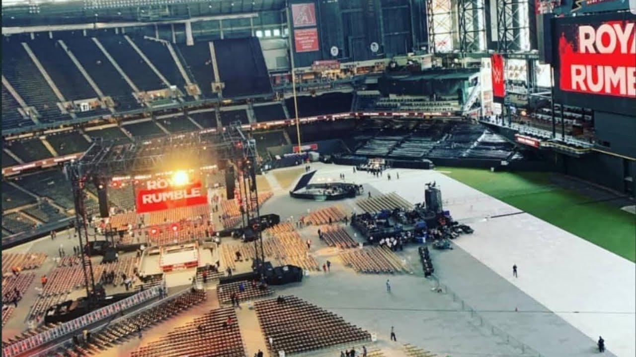 Wwe Royal Rumble 2019 Stadium Closer Look Youtube