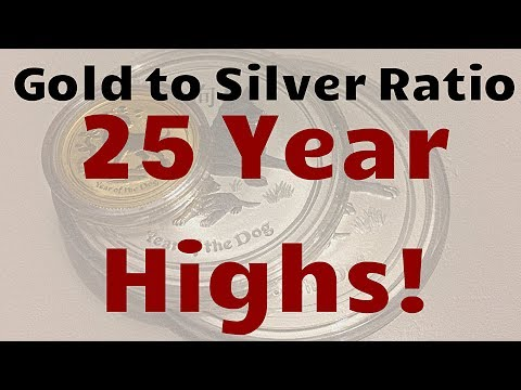 Gold to Silver Ratio at 25 Year Highs!