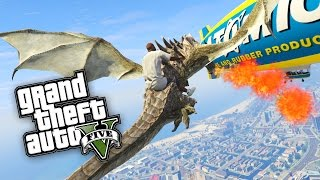 GTA 5: DRACHEN INVASION in LOS SANTOS ! - DRAGON MOD | iCrimax