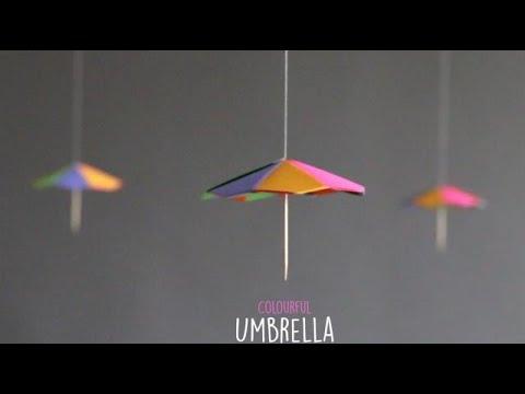 DIY Colourful Umbrella