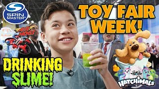 TOY FAIR WEEK!!! Spinmaster: Air Hogs, Soggy Doggy, Pimple Pete, Hatchimals, Tech Deck, Flush Force!