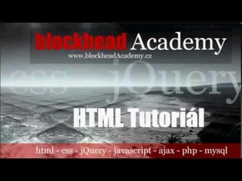 HTML Návod 12   DIV, SPAN A Atribut Zarovnání ALIGN