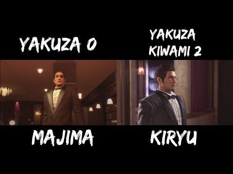 Majima And Kiryu Side By Side Comparison (Cabaret Club)