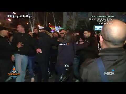 Borja Mazarro se INFILTRA con los ULTRAS DEL PSG en LA PREVIA del partido contra el MADRID