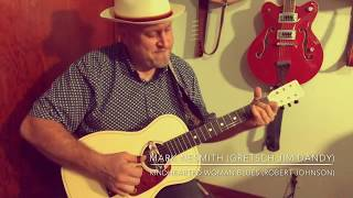 Kindhearted Woman Blues - Gretsch Jim Dandy with Deltoluxe pickup by Mark Nesmith (Robert Johnson)