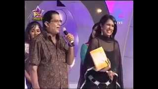 Jagathy blasting Renjini and star singer judges.
