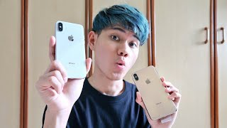 iPHONE Xs MAX GOLD UNBOXING (COMPARE WITH iPHONE X) BAHASA INDO