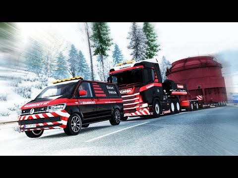 CHEAP TRUCK HEAVY TRAILER - 200T Boiler Part VS Scania R580 [ETS2]