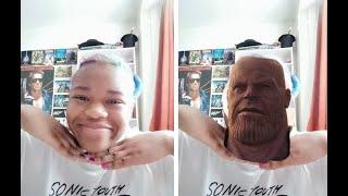 thanos face transformation!!! (AMAZING!)
