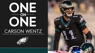 Philadelphia eagles quarterback carson wentz discusses the importance of beating dallas cowboys, benefits playing up-tempo, and more.#flyeaglesfly...
