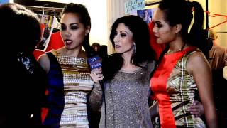 Holly J Dean interviews the Sachika Twins for their FW2012 Runway Show at Style 360 NYC