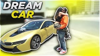 SURPRISING EX GIRLFRIEND WITH HER DREAM CAR BMW i8!!! (VERY EMOTIONAL)