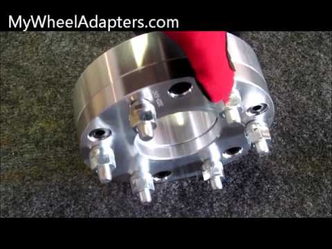5 to 6 lug wheel adapter spacer youtube