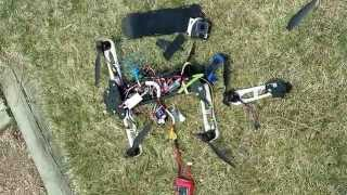 rc drone crash