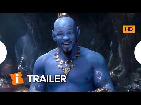 Novo Trailer de ALLADIN Revela a Primeira Imagem do Gênio Azul de Will Smith