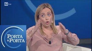 Giorgia Meloni sulla Sea Watch - Porta a porta 30/01/2019
