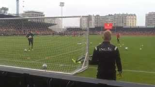 Thibaut Courtois And Simon Mignolet Warm-Up (Family Day Ostend 2014)