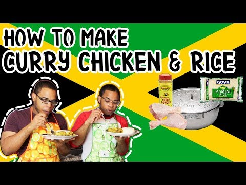 How to make curry chicken and white rice