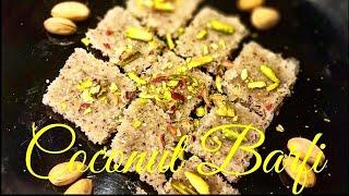 Coconut Barfi | ओल्या नारळाची वडी
