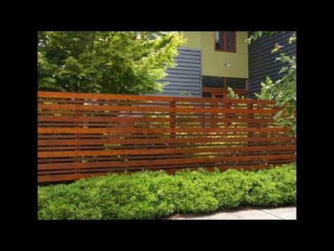 Cercos de madera para jard n wooden fences for garden youtube - Cierres para jardin ...
