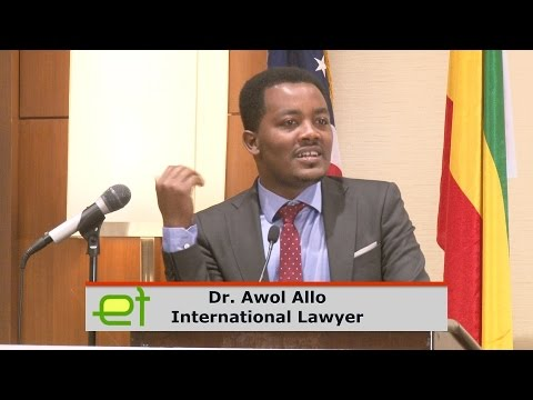 Dr. Awol Allo discusses Ethiopian constitution and human right violations at Town Hall