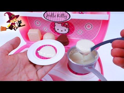 Mini Cocina de Hello Kitty 🐱 Preparamos Papilla