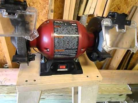 Scrap Wood Project Bench Grinder Stand Youtube