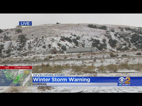 Powerful Storm Brings Rain, Snow, Howling Winds To Southern California