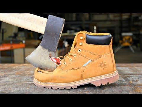 Will AXE Split STEEL TOE Boots In Half???