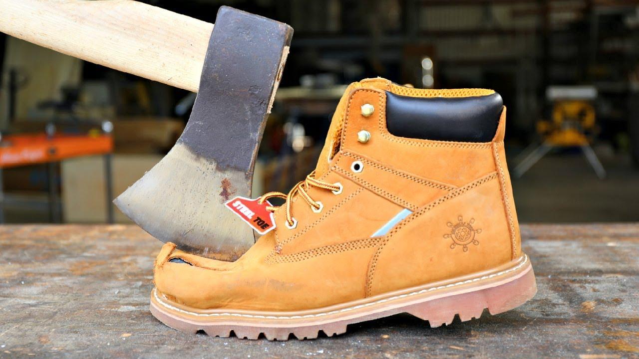 Will AXE Split STEEL TOE Boots In Half