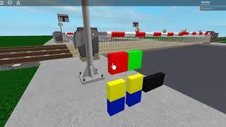 Level crossing in roblox BROKEN ALARM AND BARRIER CRASH!!