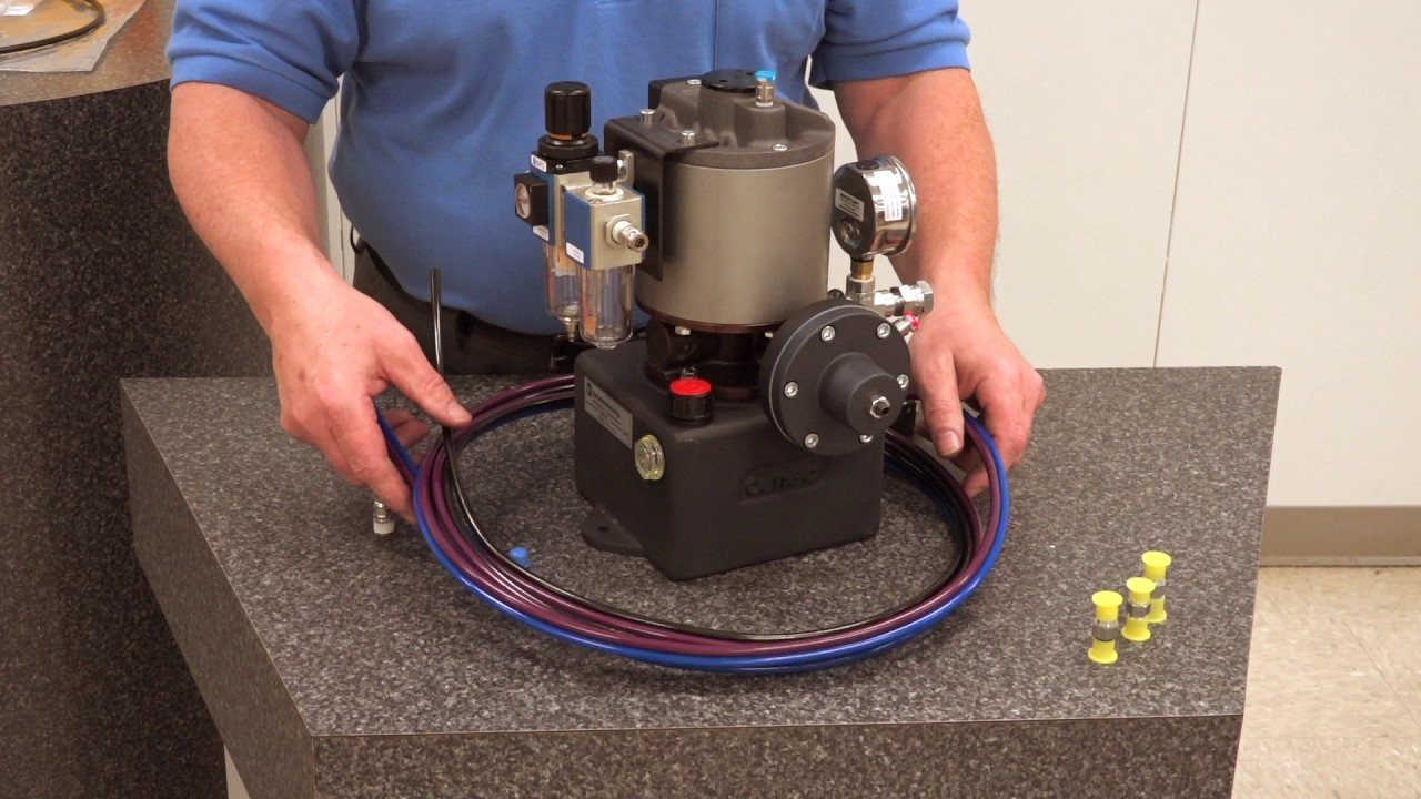 kurt khp3 hydraulic pump - pump setup