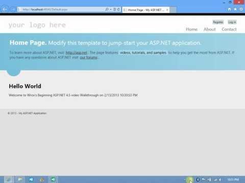 Wroxs Beginning ASP.NET4.5 Walkthrough - Create your First ASP.NET Page