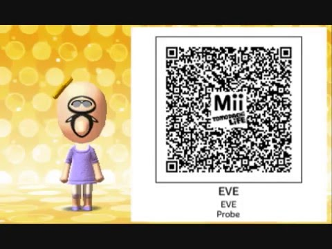 Tomodachi life qr codes of miis from various movies web amp tv shows