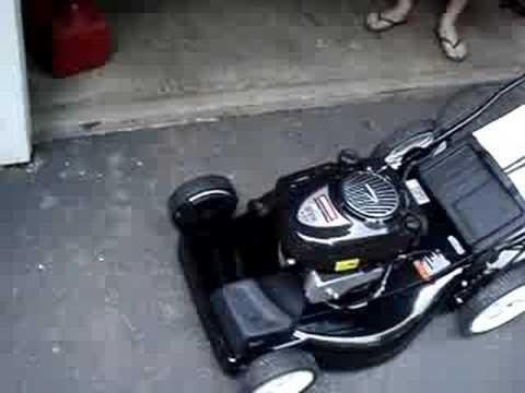 New Craftsman electric start push mower