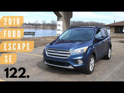 2018 Ford Escape SE // review, walk around, and test drive // 100 rental cars