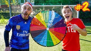 ⚽ FOOTBALL WHEEL CHALLENGE #2 - ENRY LAZZA vs FIUS GAMER