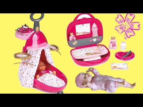 Thumbnail: Baby Dolls Nursery Suitcase Feeding Baby Annabell Send Doll to Sleep & Look after sick Baby