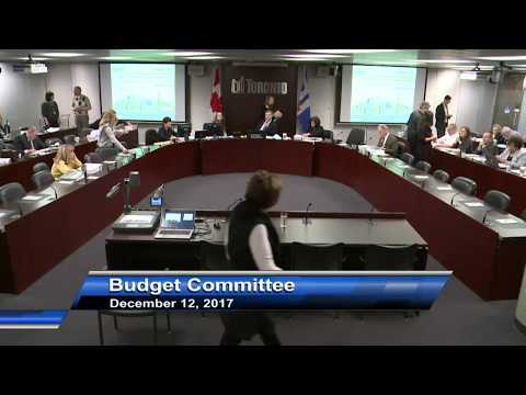 Budget Committee - December 12, 2017
