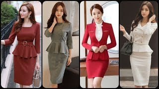 Most Trending 2020 Daily Work Wear Women's 2 Piece bodycon Dresses/Slim fit Bodycon Business Outfit