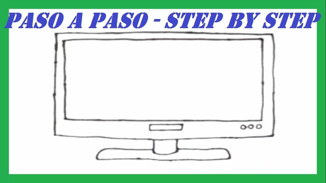 Como Dibujar Una Televisión De Pantalla Plasma L How To Draw A