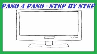 Como dibujar una Televisión de Pantalla Plasma l How to draw a Plasma TV Screen