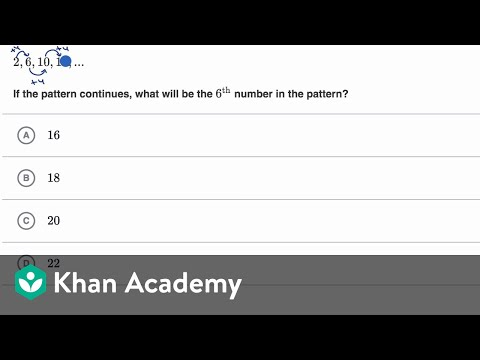 Recognizing number pattern examples