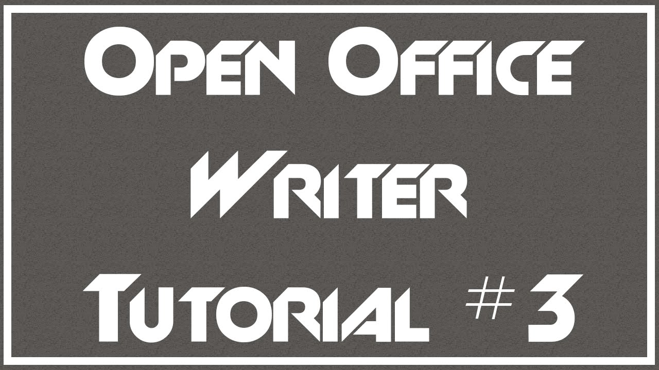 Using Bullets and Numbered Lists - 3 - OpenOffice Writer Tutorial ...