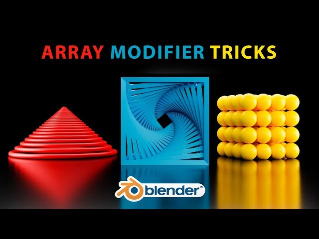 Blender - 3 Interesting Objects with the Array Modifier