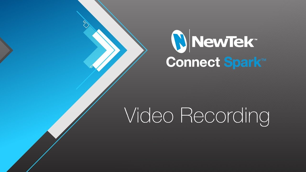 Video Recording with NewTek Connect Spark - YouTube