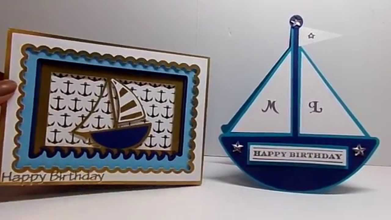 Sailing Themed Birthday Cards YouTube – Themed Birthday Cards